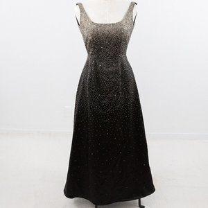 Vintage 50s 60s 6 Hollywood Formal Dress Black